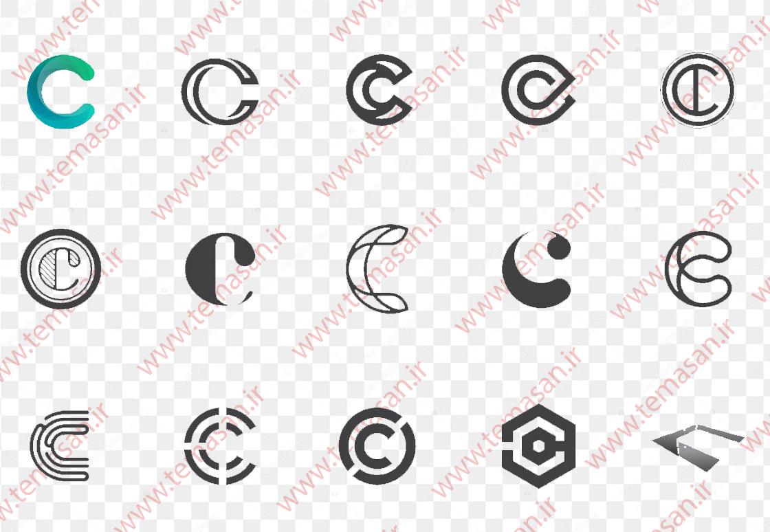 لوگو حرف c انگلیسی