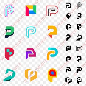 لوگو حرف p انگلیسی
