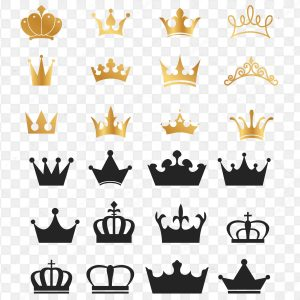 وکتور تاج ملکه ، وکتور تاج طلایی ، وکتور تاج پادشاه Crown Vectors